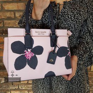 Cameron Medium Satchel Kate Spade Grand Flora Pink